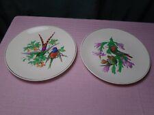 """Southland Ceramics Bird Plates (2) 8 3/8"""" Rare"""