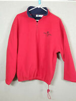 Vintage Women's Small Red Universal Studios Fleece Pullover Waist Drawstring