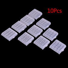 10x Plastic Case Holder Storage Box Cover forechargeable AA AAA Batteries UFJPJO