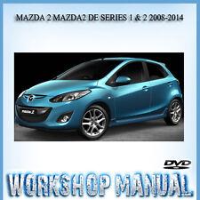 MAZDA 2 MAZDA2 DE SERIES 1 & 2 2008-2014 WORKSHOP SERVICE REPAIR MANUAL IN DISC