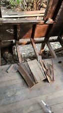 Reclaimed redwood lumber