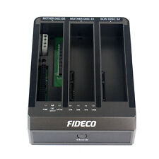 "HOT 12V 3A USB 3.0 2.5""&3.5'' IDE+ SATA 2TB 3 Bay Hard Drive HDD Docking Station"