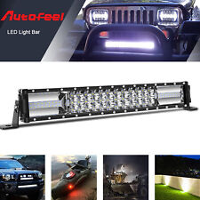 "Tri-Row 16 Inch 1008W LED Light Bar Spot Flood Fog Light Truck Offroad VS 42""32"""