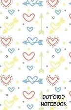 Dot Grid Notebook: Mini Heart Pattern: 120 Dot Grid Pages, (5.5 X by Harry, John