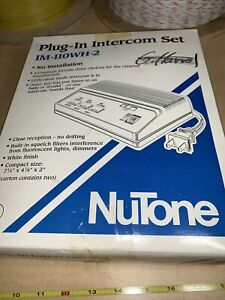 Two Stations - NuTone Plug-In Intercom IM-110WH-2 (3 Channels)