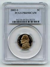 2002 S 5C Jefferson Nickel PCGS PR69DCAM