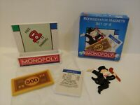 2000 MONOPOLY Refrigerator Magnets Set Of 4 *NEW* Free Shipping