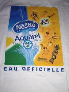 Official Tour de France T-Shirt New: Nestle Aquarel Official Water Size Large