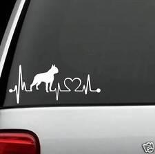 K1030 Boston Terrier Heartbeat© Lifeline Monitor Decal Sticker Truck