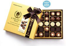 Bistro Chocolatier Assorted Chocolate Truffles Gold Gift Box with Royal Ribbon