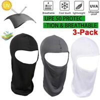 3Pack Outdoor Ski Motorcycle Cycling Balaclava Full Face Mask Neck Ultra Thin