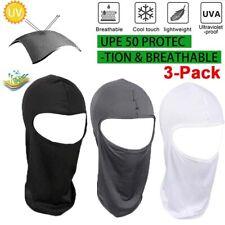 3Pack Outdoor Ski Motorcycle Cycling Balaclava Full Face Mask Neck Ultra Thin