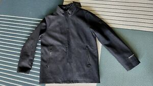 Tumi Tech Lined Jacket Size Medium M Mens Charcoal Full Zip With Hood-in-zipper