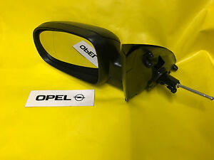 New Exterior Mirror Left Opel Corsa C + Combo Black Kpl with Glass And Cover