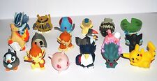 POKEMON X18 HOLLOW FINGER PUPPET FIGURES Pikachu NINTENDO BANDAI Toy Vintage
