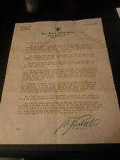 James h doolittle general autographed paper RARE 1946 authentic signiture