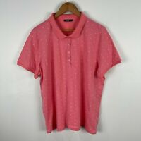 Regatta Womens Shirt Top 18 Pink Polka Dot Short Sleeve Collared