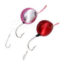 1pc Metal Round Lead Head Lure Jigs Fishing Hooks Soft Bait Fishing Tools 120g
