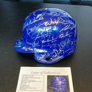 Beautiful Los Angeles Dodgers Legends Multi Signed Helmet 45+ Sigs With JSA COA