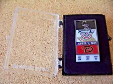 2011 Colorado Rockies Arizona Diamondbacks Opening Day ticket type pin ltd & #'d