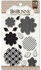 Perfect Petals Flowers, Clear Unmounted Rubber Stamps Set BOBUNNY New 12105769