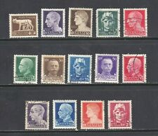 Italy stamps #213 - 225, mint & used, 1929 - 1942