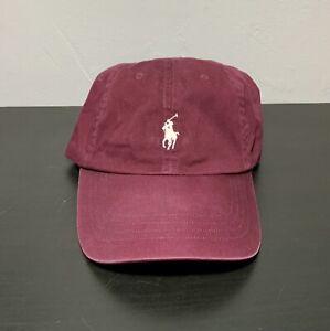 Polo Ralph Lauren Embroidered Logo Baseball Cap Dad Hat. Maroon