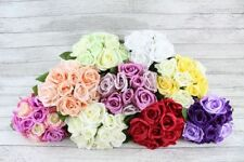 Flores secas y artificiales decorativas ramos color principal rosa para el hogar