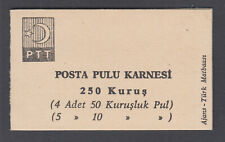 Turkey Sc 1756b Intact Booklet. 1967 250k Booklet, 1 pane of 9 + label, VF
