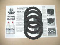 """Infinity-Dodge-Chrysler Factory Speaker ReFoam Kit  6""""-6.5"""" Universal Fit."""