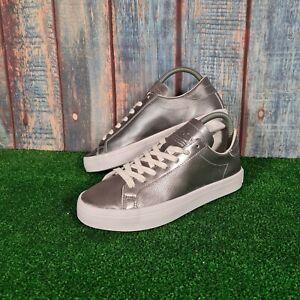 Adidas Court Vantage Women's Metalic Silver Trainers UK Size 5