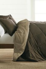 ienjoy Home QUEEN Comforter & 2 Shams BROWN A03211