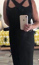 per una speziale 16 Black Cocktail Strap Pencil Dress