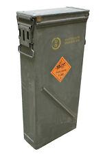 US Army Tall Olive Green Metal Ammo Box Grade 1 Military Surplus