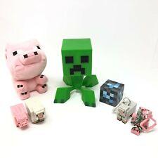 Minecraft Creeper Diamond Ore Block Pig Sheep Animal Keychain Figure Plush LOT
