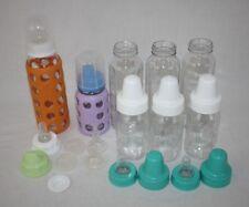 Baby Infant Brand Assorted Glass Feeding Bottles Lot 8