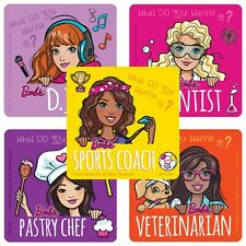 Barbie Stickers x 5 - Barbie Friends Stickers - Be ANYTHING Motivation Stickers