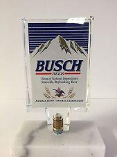 "Busch Beer Short Acrylic Tap Handle Keg Bar NEW in Bag & F/S - Vintage - 5"""