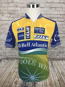Louis Garneau Bell Atlantic Bicycles Men's Large S/S Cycling Jersey 3/4 Zip RARE