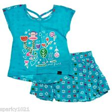 Paul Frank  2 Piece Floral Skort Set Girl's Size 4T NWT