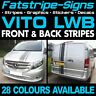 MERCEDES VITO LWB STRIPES GRAPHICS STICKERS DECALS CAMPER DAY RACE VAN SPORT