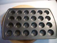 """Mini Muffin Cupcake Metal Non Stick Pan 24 Cups 1.8"""" Cups Snacks Baking"""