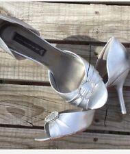 Steven Silver Crystal Open Toe Heels Size 10 By Steve Madden