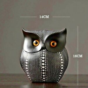 Owl Resin Abstract Statue Sculpture Ornament Figurine Craft Home Office Decor S