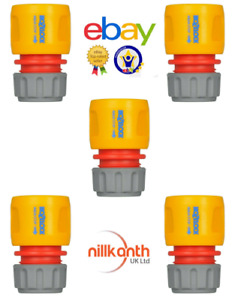 Garden Hose Attachment Hozelock Water Stop Connector (Aquastop) 12.5mm & 15mm