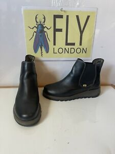 Fly London Salv Comfy Leather Boots Size UK 3.5 EU 36.5