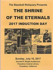 VIN SCULLY, CHARLIE BROWN, BASEBALL RELIQUARY 2017 INDUCTION PROGRAM