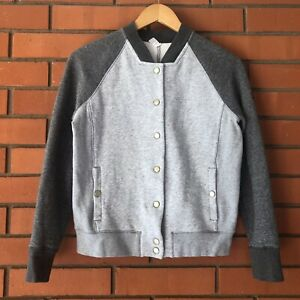 UNDER ARMOUR Women's Gray Varsity Snap Front Jacket  Size SMALL