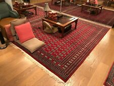 """8' 2 1/2"""" x 10' 6"""" ANTIQUE PERSIAN RUG VINTAGE RED HANDMADE / KNOTTED ORIENTAL"""