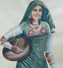 Gypsies of India Banjara Tribal Realistic Painting Artwork Online Art Gallery UK